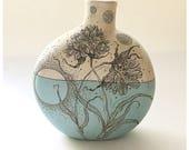 Brodiaea + Promethea Moth Canteen Vase