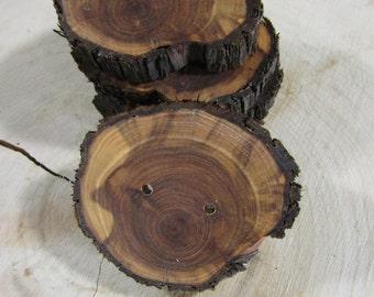 """5 big beautiful Juniper Wooden buttons- handmade buttons 2"""" (4013)"""