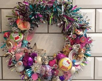 My Little Frozen Kitty Birthday Christmas Party Decoration Wreath