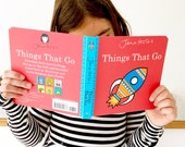 New Jane Foster's Things That Go pre-school baby board book  -  Scandi retro illustrations Jane Foster - can sign on request