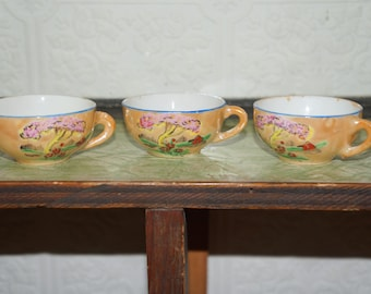 Vintage Child's Tea Set Lusterware doll house tea cups