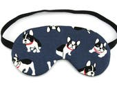 Navy Blue Boston Terrier Dogs Sleep Eye Mask, Sleeping Mask, Travel Mask, Sleep Mask, Travel Gift, Gift for her