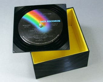 Groovy Little Box with a Lid - Handmade from Recycled Record Goodbye Yellow Brick Road Elton John