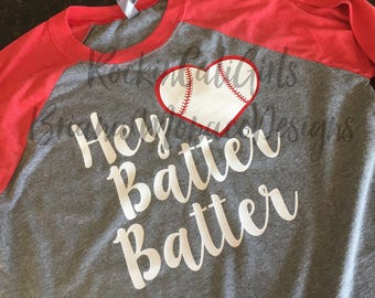 Hey Batter Baseball Tee