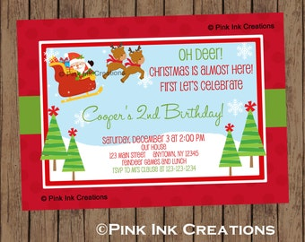 REINDEER Birthday Invitation / Reindeer Invitation / Reindeer Food Birthday Invitation / Reindeer Birthday Party / Reindeer Party /PRINTABLE