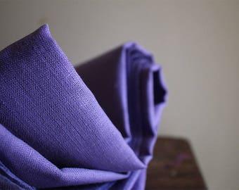 LINEN FABRIC - bright lavender / mid weight linen fabric / european flax / supplies by runningthreads