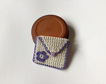 Purple purse  - for cards, money, mp3, store cards, makeup, coins