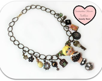 Curiosities Charm Necklace- Vintage Doll Jewelry