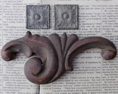 Vintage 3 Wooden Architectural Decorative Moulding Pieces