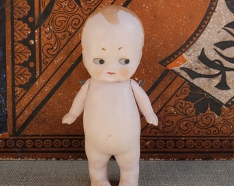 Vintage German Bisque Baby Doll With Movable Arms