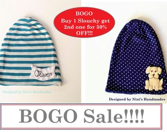 Buy 1 Jersey knit Slouchy and get your 2nd one for 50 Percent OFF, Bogo slouchy sale, boy slouchy, girl slouchy, Sale, Hat Sale,  Etsy sale