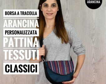 Borsa a tracolla PERSONALIZZATA Pattina TESSUTI CLASSICI mod. Arancina PE2017