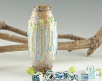 Lampwork Glass Bead, Handmade lampwork focal bead, artist lampwork, bead pendant, bead jewelry supplies, glass focal bead, Finally Spring