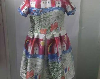 NEW! Child's Drawing Dress Size 18 20 22 24 26 28 30