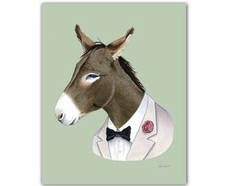 Donkey print 8x10