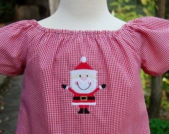 Girls red Christmas Dress, Christmas Outfit , Girls Dress, Girls Santa Dress,  Baby Girl Holiday Dress, Toddler Christmas Dress