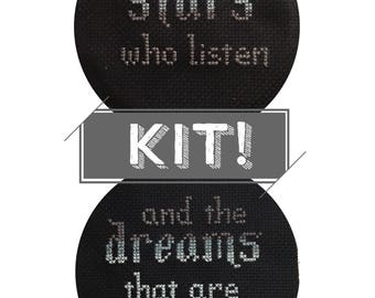 ACOMAF - Cross Stitch Kit - To the Stars who listen, and the Dreams that are answered - A Court of Mist and Fury