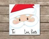 Santa Gift Tags, INSTANT DOWNLOAD, Santa Tags, Love Santa Tags, Christmas Gift tags, Holiday Gift Tags, Printable Santa Tags, Stickers