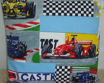 "Racing Cars Pillow Cover 16x16 Formula One 1 Race Car Motro Sport Throw Cushion Case Sham Slip 16"" NEW"