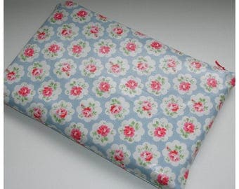 Microsoft Surface Pro Case Cover Pouch Sleeve Designer Cath Kidston PVC Oilcloth Provence Rose Blue Fabric Vintage Rose Design Pink Blue