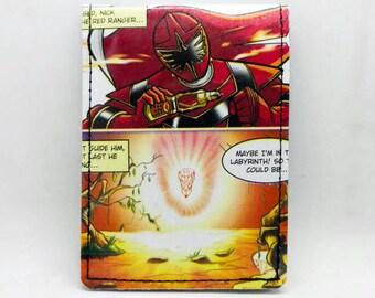 Sewn Comic Book Wallet - Power Rangers