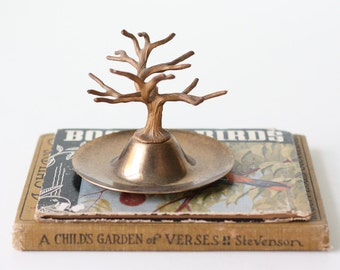 Vintage Brass Tree, Ring Holder, Jewelry Display
