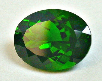 VINTAGE CHROME DIOPSIDE Faceted Gemstone oval 1.90cts fg224