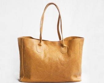 Leather Shopper in Butterscotch /Leather Tote / Shoulder Bag / Brown Leather Bag / Leather Bag  / Leather Handbag