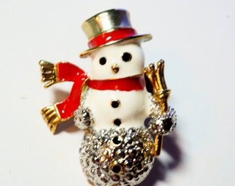 Snowman Pin, Christmas Tie Pin, Hat pin