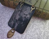 Antique Tintype Necklace Assemblage best friends forever