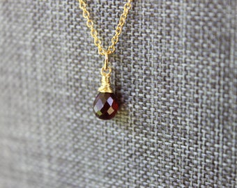 Garnet Gold Necklace