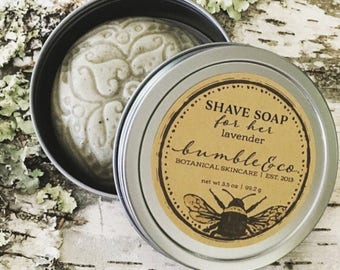 Womens Shaving Soap | Shave Soap for HER | Vegan Shaving Soap | All Natural Shave Soap | Lavender Soap | Ladies Shave Soap | Gentle Soap