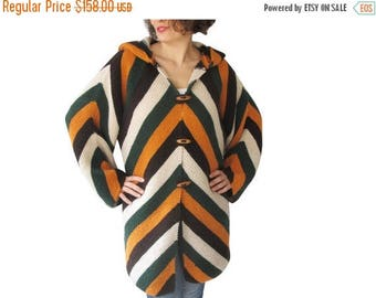 CLEARANCE 50% Colourful Cardigan with Hood by AFRA