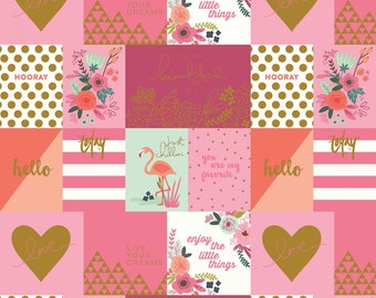 On Trend Notecards Raspberry Sparkle - On Trend collection from Riley Blake - fabric by the quarter yard cut continuously