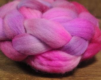 Polwarth Wool Top for Handspinning - 'Blush Lilac'