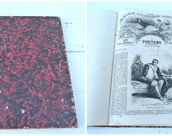 Vintage Antique 1911 French Old book