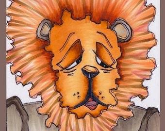 1397 The Wiz Cowardly Lion Digi Stamp