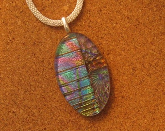 Dichroic Glass Pendant - Dichroic Jewelry - Dichroic Necklace - Fused Glass Pendant - Fused Glass Jewelry - Fused Glass Necklace