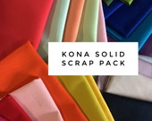 SALE Fabric Scraps, Scrap Fabric, Scrap Pack of SOLID Fabric, Quilting Fabric, Kona Cotton Scraps, Solid Scraps, Best Seller