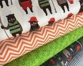 Brawny Bears Fabric, Fabric by the Yard, Fabric Bundle of 5, Bear Fabric, Fishing, Canoe, Greatest Adventure, Robert Kaufman- Choose the cut