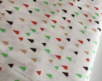 Tree fabric, Triangle fabric, Forest Fellows 2, Animal fabric, Kids room decor, Kids fabric, Whimsical, Trees in Forest, Choose the cut