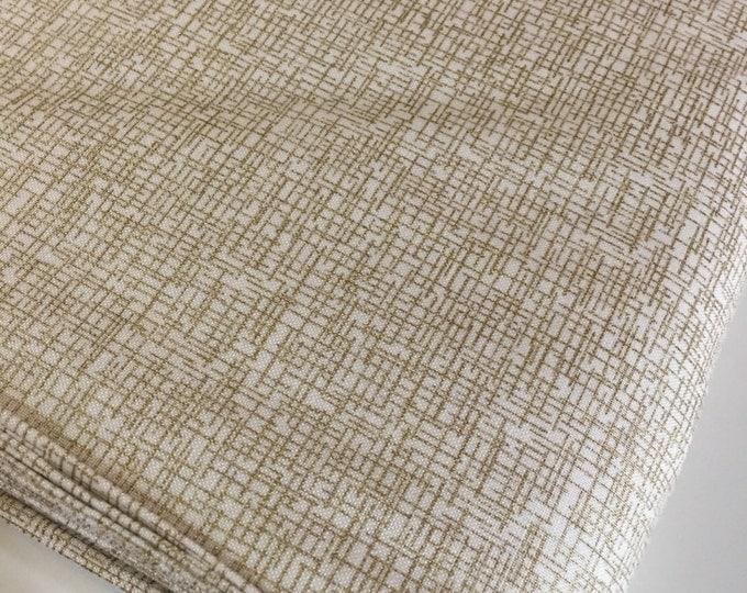 Gold Fabric, Gold Wedding Decor Fabric, Gold Nursery Decor Fabric, Modern Background fabric by Moda Fabrics, Grid in Gold, Choose your cut