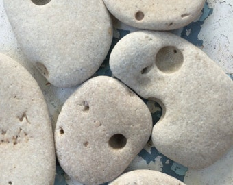 CRATER ROCKS...11 beach stones with natural burrows, stone faces,rustic chunky pendant making grey rock supplies moon magic earth pebbles