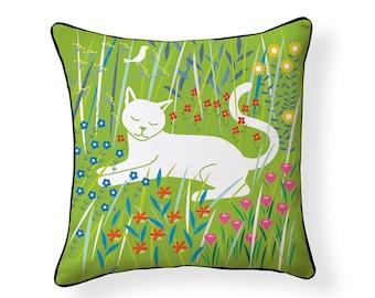 NEW! Flora & Feline Indoor/ Outdoor Pillow