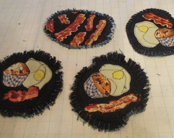 Cotton Eyed Jo -Houston Rodeo Time Means Trail Rides and Bacon Platter, + 3 plates  Free Shipping