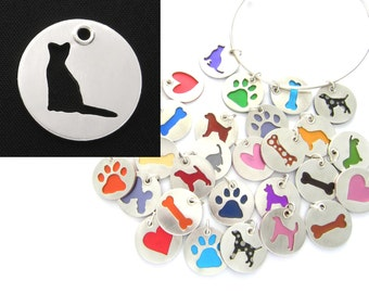 Abyssinian Cat Sterling Silver Necklace Pendant Charm - Lots of Colors