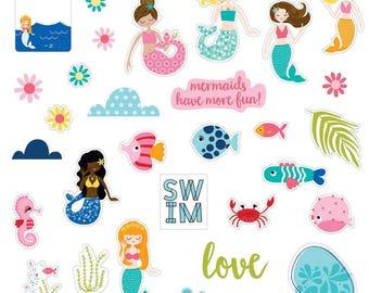 Secrets Of The Sea Girl Paper Pieces Cardstock Die-Cuts (SOS1632)