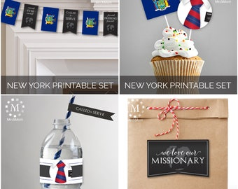 INSTANT Download - NEW YORK -  Missionary Farewell Welcome Home Decoration Printable Set for Elders