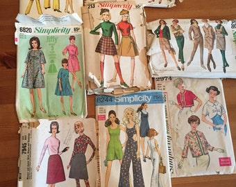 Lot of Vintage Dress Patterns 1960s sz 11 - 16 simplicity McCalls Butterick