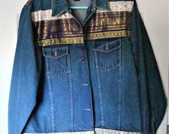 Agazo Collection 90's Jean Ribbon  Jacket